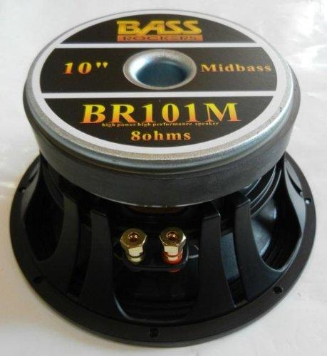 """Brand New Bass Rockers 10"""" 8 Ohm Midrange Midbass Driver Dj Pro Car Loud Speaker Br101M"""