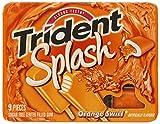 Trident Splash Orange Swirl, 9-Piece Packages (Pack of 10)