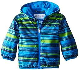Columbia Baby Boys\' Mini Pixel Grabber II Wind Jacket, Hyper Blue Print, 3-6 Months