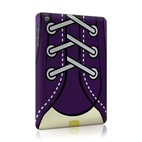 Cover in plastica rigida Tirita trendy fashion Cute Design Scarpe Lacci Hipster per iPad Mini 2