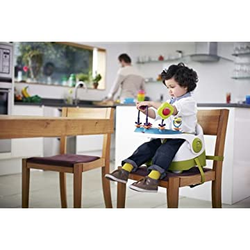 Mamas & Papas Baby Bud 3 Stage Booster Seat with Activity Tray- Lime