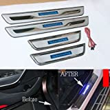 GOOACC®LED Stainless Door Sill Scuff Plate Interior 4pcs For 2013 Hyundai Santa Fe ix45