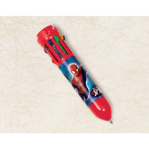 "Amscan Ultimate Spider Man Color Pen Birthday Party Favor (1 Piece), 3 3/4"", Red"