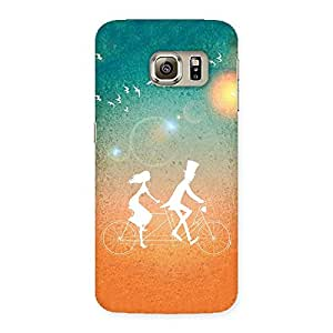 Delighted Cycle Couple Dream Multicolor Back Case Cover for Samsung Galaxy S6 Edge