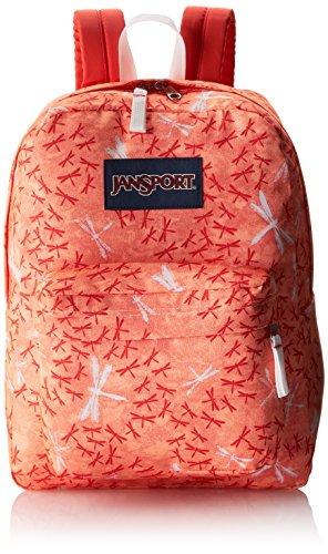 JanSport Superbreak Backpack - 1550cu in Coral Peaches Dragon Flight, One Size