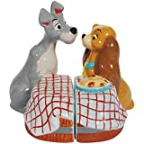 Westland Giftware Magnetic Ceramic Salt and Pepper Shaker Set, First Kiss, Multicolor