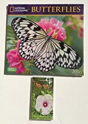 2 Item 2016 Calendar/Planner Bundle - 1-2016 National Geographic Butterflies and 1- 2015-2016 Brown Trout In The Garden 2 Yr. Planner