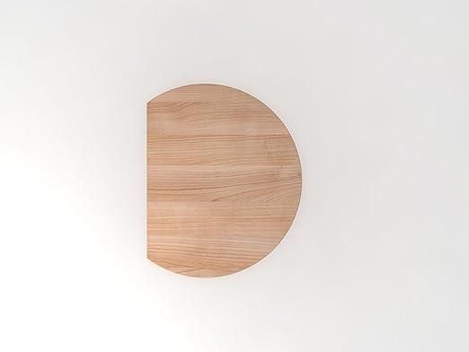 Coltivazione tavolo con piede d' appoggio, 80x 100cm, noce/bianco