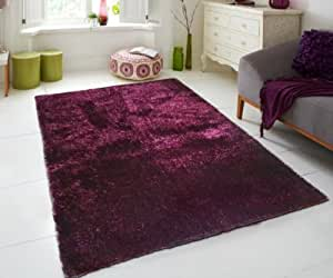 Amazon Com Magenta Solid Color Soft Hand Tafted Shag Area