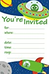 Space Alien Birthday Party Invitation…