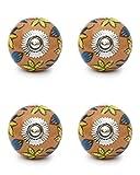 Knobs & Hooks Ceramic Cabinet Knob; Multi; Set of four pieces