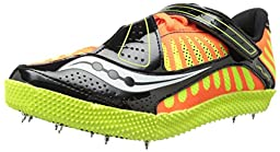 Saucony Men\'s Uplift HJ Field Shoe, Vizi Orange/Citron/Black, 11 M US
