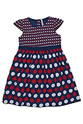 Chalk by Pantaloons Girl's Skater Dress ( 205000005606720, Blue, 5-6 Years)
