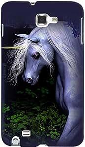 PrintVisa Animal Unicorn Cute Case Cover for Samsung Galaxy Note 2