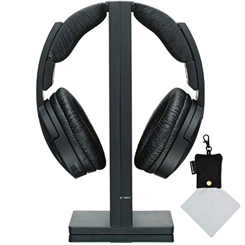 Sony-MDRRF985RK-Wireless-RF-Black-Headphone-Polaroid-Micro-Fiber-Cleaning-Cloth-With-Storage-Pouch