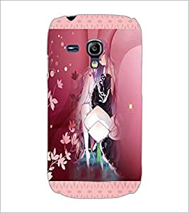 PrintDhaba Cute Animated Girl D-3582 Back Case Cover for SAMSUNG GALAXY S3 MINI (Multi-Coloured)