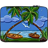 Snoogg Lost Paradise 2464 10 To 10.6 Inch Laptop Netbook Notebook Slipcase Sleeve