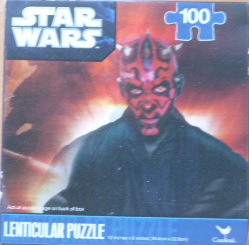 Star Wars 100 Piece Lenticular Puzzle With Hologram Darth Maul 3D Effect