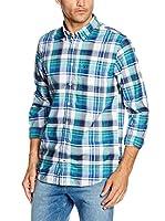 Tommy Hilfiger Camisa Hombre Rock Chk Nf1 (Aguamarina)