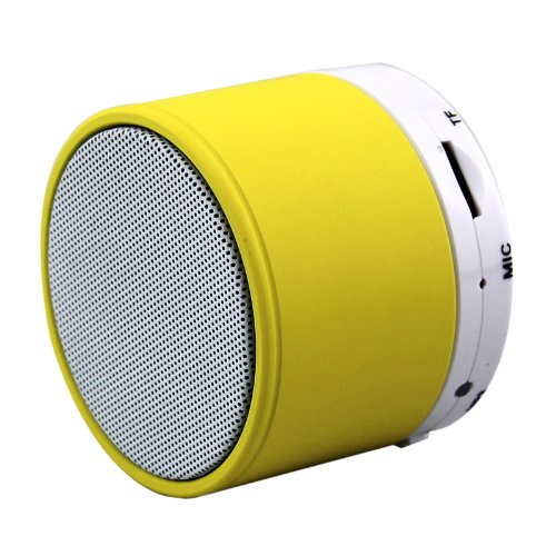 Jgmaxtm Wireless Portable Mini Bluetooth Speaker Music Player Hand Free For Ipod Iphone Ipad Android And All Bluetooth Enabled Device (S10 Yellow)