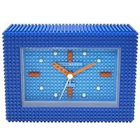 [ナノブロック]nanoblock デコレーション目覚まし時計 アラームクロック 置時計 おまけブロック付 ブルー NAAC-96904BL