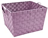 Simplify Large Woven Strap Tote, Mauve, Large Tote