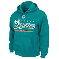 Miami Dolphins Critical Victory VI Majestic Aqua Hooded Sweatshirt by Majestic