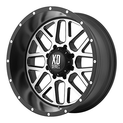 XD Series by KMC Wheels XD820 Grenade Satin Black Wheel with Machined Face (16x8