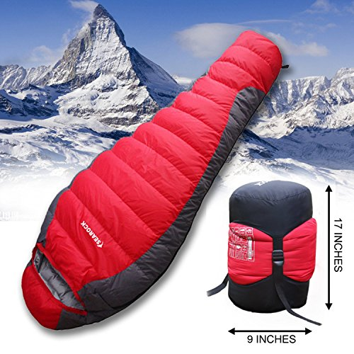 -22 degree Sleeping Bag, Eiderdown Sleeping Bag Against Extreme Weather, Fahrenheit Synthetic and Down Filled Mummy Sleeping Bag for Winter Camping Length: 8.14ft, Width: 2.9ft.-22/25degree Sleeping Bag, Eiderdown Sleeping Bag Against Extreme Weather(down Weight 4 Lb)shipped By Dhl. Arrive You in 4-5 Days After Delivery.