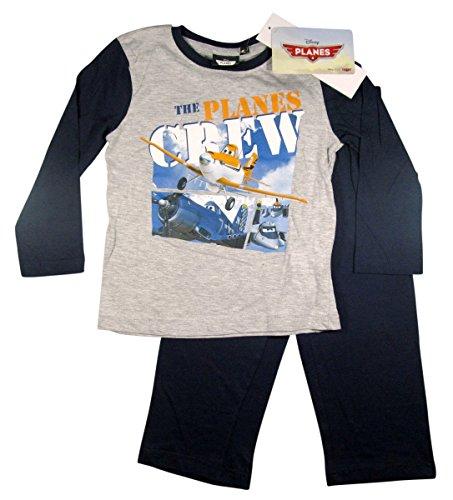 Disney Planes 2 Kollektion 2014 Schlafanzug 92 98 104 110 116 122 128 Jungen Pyjama Neu Lang Dusty SC131 Grau-Blau (92 - 98)