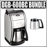 Cuisinart DGB-600BC Grind and Brew Coffee Maker (Brushed Chrome) w/ DGB-600 ....