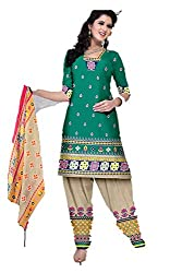 Riddhi Dresses Women's Cotton Unstitched Dress Material (Riddhi Dresses 101_Multi Coloured_Free Size)