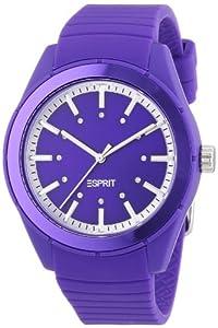 Esprit - ES900642008 - Play Solid - Montre Femme - Quartz Analogique - Cadran Violet - Bracelet Silicone Violet