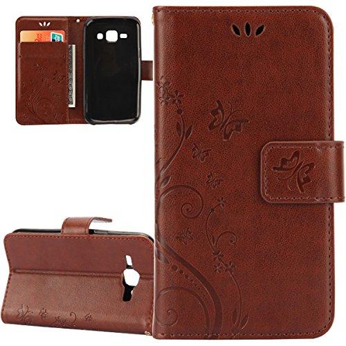 Galaxy-S5-Schutzhlle-CaseGalaxy-S5-Neo-HlleGalaxy-S5-HlleISAKEN-Galaxy-S5-Hlle-MusterPrgung-Blumen-Schmetterlings-Muster-Buch-Stil-Bookstyle-Flip-Magnetverschluss-Brieftasche-Geldbrse-Wallet-Kreditkar