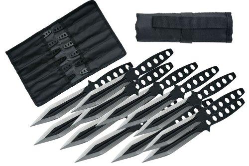 Szco Supplies Black Streak Throwing Knives Set