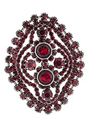 Syonaa Brooch in Red Colour(brch227)