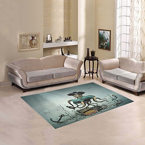 51b2UzyKfUL 20 Of Our Favorite Octopus Area Rugs