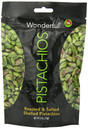 Wonderful  Pistachios Shelled Pistachios, 6-Ounce (Pack of 5)