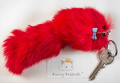 3 für 2 ! Big Groß rouge rot 20cm Designer Schlüsselanhänger , Charme, niedlichen Tier , Katze, Hund , Spielzeug Scratch , Teaser , Katzenminze , einzigartiges Geschenk , Niedlich, Kette, Fox, Frettchen , Monster Keychain Tochter Geschenk Keychain Charme
