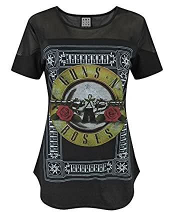damen amplified clothing guns n roses t shirt. Black Bedroom Furniture Sets. Home Design Ideas