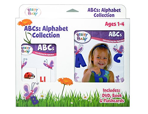 Brainy Baby ABC Flash Cards, DVD and Board Book Collection: Introducing the Alphabet Deluxe Edition (Your Baby Can Read Deluxe compare prices)