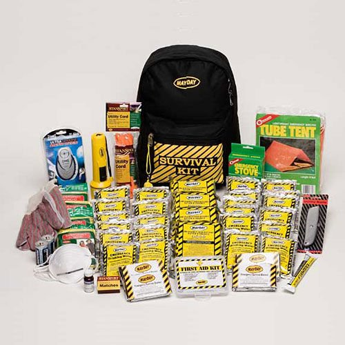 Mayday Deluxe Emergency Preparedness Survival Backpack Kits (4 Person)