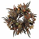 Nearly Natural 4907 Pumpkin Wreath, 28-Inch, Autumn