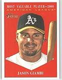 2010 Topps Heritage Baseball Card # 471 Jason Giambi (MVP Award Winners / Short Print) Oakland Athletics - Mint Condition - MLB Trading Card