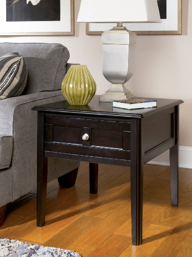 Cheap Henning Rectangular End Table inAlmostBlack Painted Finish (T479-3)