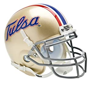 Tulsa Hurricanes NCAA Mini Authentic Football Helmet From Schutt by Schutt