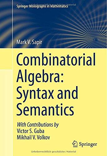 Combinatorial Algebra: Syntax and Semantics (Springer Monographs in Mathematics)