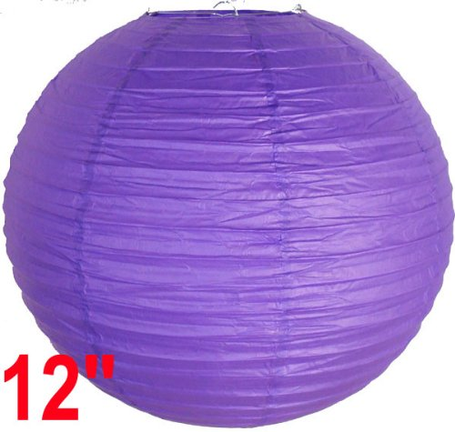 Royal Purple Chinese/Japanese Paper Lantern/Lamp 12