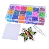 Toy - MJARTORIA 18-Fach Kinder Buegelperlen Steckperlen Perlen Beads Bastelperlen Set Biene