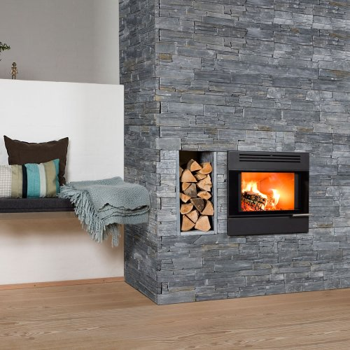 Aduro 5 Inset - Danish Black7kW wood burning stove